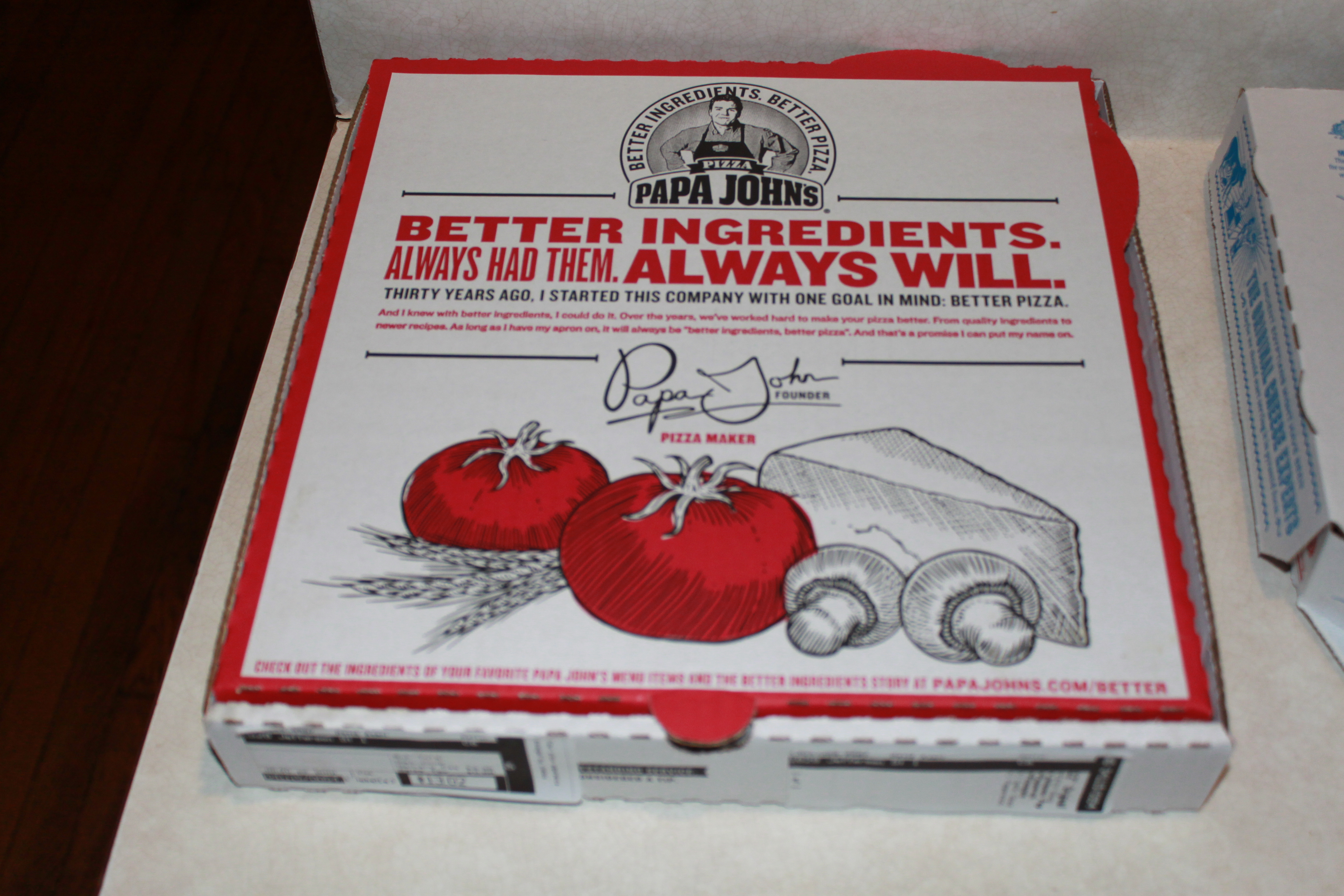 Pizza Madness!!! – Week Nine: Semifinal Два | DC the ... Papa Johns Pizza Box Opened